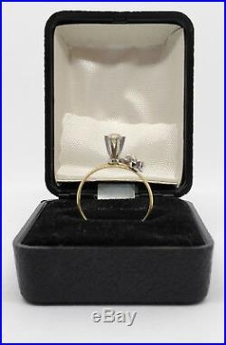 14k Gold Art Nouveau Prong Set Estate Diamond Engagement Ring Sz 6 1.6g 0.15 CTW