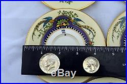 14pc. Vintage Lenox Demi Plates Demi Cups Florida Gold Rim China Set 4 3/4