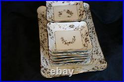 1880s CFH Charles Field Haviland GDM Limoges Ice Cream for 12 Elegant Set