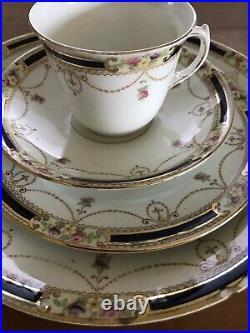 19 PIECE Antique Redford and Drakeford Balmoral Art Nouveau Tea Set 1902-1933