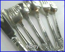 36 Vintage GORHAM Solid Sterling Silver Silverware Flatware Set OLD SOVEREIGN