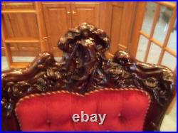 3 Pcs Antique Karpen / Carpen Art Nouveau Parlor Set 1880's 1900