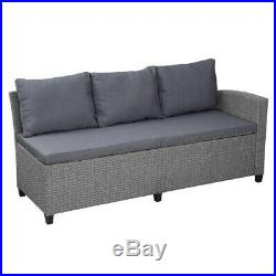 5 Piece Patio Furniture Set Outdoor Sectional Sofa Couch Dining Table Ottoman