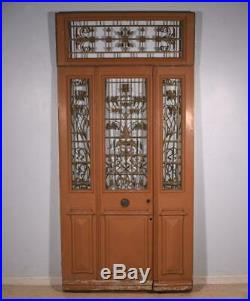 80 Tall (98 with transom) Set of French Antique Oak Wood Exterior Doors