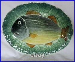 8 pc Majolica Fish Set Goodfriend Spain Plates Dish Sauceboat