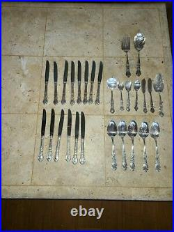 91 pc 1847 Rogers Bros Heritage silverware silverplate flatware silver set Box