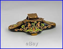 9937899-dss Writing Set Inkwell Art Nouveau Ceramics/Bronze