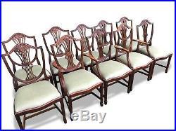 9ft Harrods Designer George III style mahogany dining set, Pro French polished