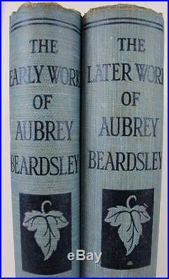 AUBREY BEARDSLEY Early/Later Works SET HC/DJ ART NOUVEAU Vintage Bodley Head OLD