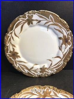 A Set Of 6 Antique Limoges Porcelain Dessert/ Cake Plate/Hand Painted, signed1909
