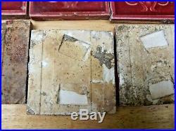 A Set of 26 Antique Minton Majolica Art Noveau 3 inch Tiles