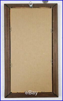 Alphonse Mucha AUTUMN & WINTER Framed MIRROR Set ART NOUVEAU Seasons VINTAGE