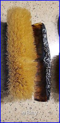 Anniversary Gift! STERLING SILVER Art NOUVEAU Vanity Set Nice