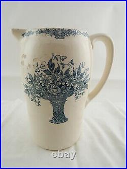 Antico Set Bagno Ceramica Galeries Ennege Versailles Catino Brocca Art Nouveau