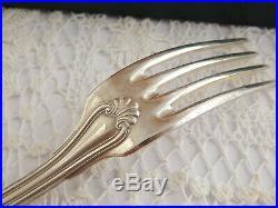 Antico Set Posate Lega Argento Metal Blanc Ercuis Primi 1900 Liberty Art Nouveau