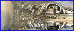Antique 1902 WHITING Sterling Silver LILY Set for 12 Flowers Letter H Flatware