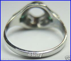 Antique Art Deco Belais Setting Mounting Mount Hold 6MM 18K Ring Size 5.75 UK-L