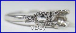 Antique Art Deco Setting Mounting Mount Platinum Hold 4.5-5MM Ring Sz 6.25 UK-M