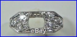 Antique Art Deco Setting Mounting Mount Platinum Hold 6.5-7MM Rg Sz 5.75 EGL USA
