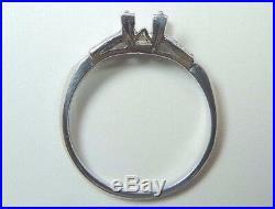 Antique Art Deco Vintage Engagement Setting Platinum Hold 5MM Ring Size 5 Mount