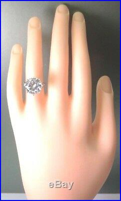 Antique Art Deco Vintage Setting Mounting Hold 10MM-13MM Platinum Ring Size 6.5