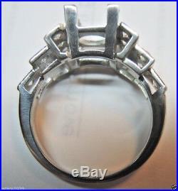 Antique Art Deco Vintage Setting Mounting Platinum Hold 6.5MM Ring Sz 6 UK-L1/2