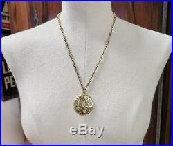 Antique Art Nouveau 14K gold & Old Cut Diamond Set Locket With Chain Val $5400
