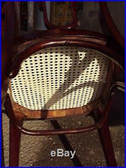 Antique Art Nouveau set of 6 chairs, No. 623, Thonet, Vienna, Signed, ca. 1910