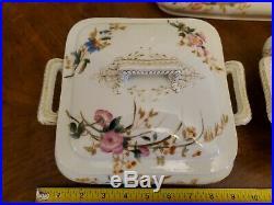 Antique CH Field Haviland Limoges Depos CFH GDM 4 PC Lrg Serving Dishes Set