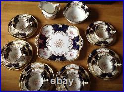 Antique Coalport Batwing Cobalt Blue Y2665 (21 Piece Tea Set) 1891-1919