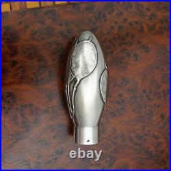 Antique French. 800 Silver Parasol Umbrella / Dress Cane Handle Set Art Nouveau