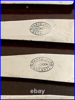 Antique French Silver Set Of Art Nouveau Knives 12 Pcs Grange June
