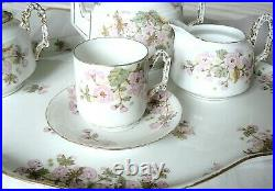 Antique GD&Co. LIMOGES France BATCHELOR CABARET TEA SET & TRAY Excellent