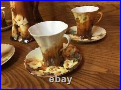 Antique Haviland France Limoges Chocolate Set withPot, Cups and Saucers -Excellent