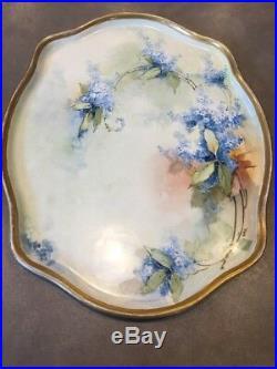 Antique Limoges Bavaria Austria 14 pc Dresser Vanity Set Hand Painted Signed
