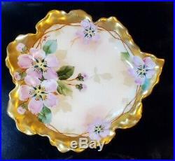 Antique Pickard Limoges Haviland Artist Signed Mayonnaise Dish Vintage Set Rare