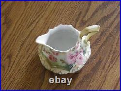 Antique RS Prussia Art Nouveau 5 Piece Hand Painted Floral Tea Set