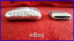Antique St Silver set Cigarette case- Match box vesta Birmingham 1919 Hallmarked