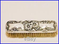 Antique Victorian Repousse 11 Pc Sterling Silver Art Vanity Dresser Set