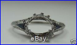 Antique Vintage Art Deco Mounting Setting Platinum Hold 7MM Ring Size 5.25 UK-K