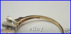 Antique Vintage K&B Mounting Setting 14K Multi-Gold Hold 3-5MM Rg Sz 6.5 UK-M1/2