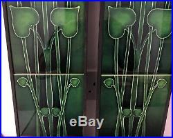 Art Nouveau Fireplace Tile Set 2 X 5 Tile Panels An144 Green Gas / Decorative