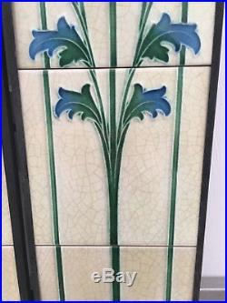Art Nouveau Fireplace Tile Set (2 X 5 Tile Panels) Ref An 140