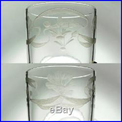 Art Nouveau French Sterling Silver Gilt Vermeil Liquor Shot Glasses, Boxed Set