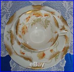 Art Nouveau WILEMAN Shelley FOLEY China Tea Set POPPY c1894 1910
