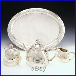 Art Nouveau WMF Tea Set and Serving Tray c1910
