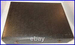 Aynsley Boxed Gilded Cobalt Blue Coffee Set & Enamelled Silver Spoons c1950