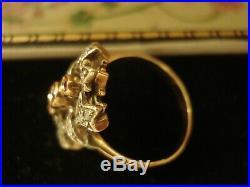 Beautiful Antique Inspired Rose Cut Ruby Gemstones & Diamonds Silver Set Ring