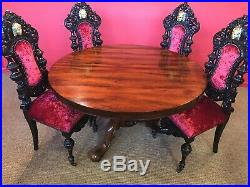Beautiful William IV Rosewood Dining Set Profesionally Hand French Polished