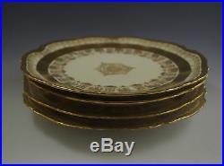 C. 1890 Bawo Dotter Limoges France Set Of 4 Heavy Gold Plates, 8